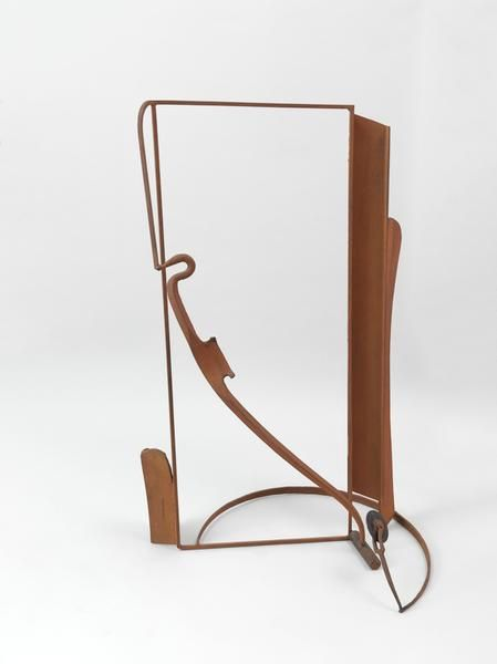 "Anthony Caro, Table Piece ""Catalan Spur"", 1987-1988, Steel, bronze, wood, rusted, & fixed, 49.02 x 31.5 x 25.98 inches, 124.5 x 80 x 66 cm, AMY#28386"