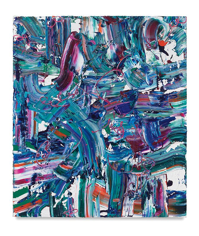 Cool Flow, 2018, Acrylic on linen, 60 x 52 inches, 152.4 x 132.1 cm, MMG#30014