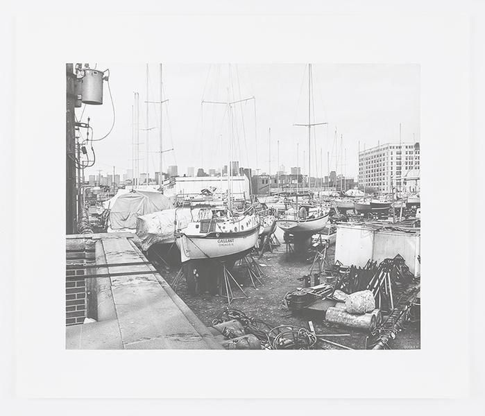 Marina on the South Branch, 2016, Pencil on Bristol Board, 15 x 18 1/2 inches, 38.1 x 47 cm, AMY#28665