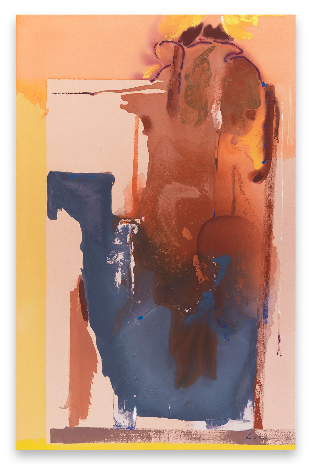 Helen Frankenthaler, Groundswell, 1987,Acrylic on canvas,79 1/2 x 51 1/4 inches,201.9 x 130.2 cm,MMG#11633,