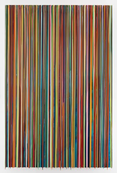 DOORSOPENBOTHWAYS, 2016, Epoxy resin and pigments on wood, 90 x 60 inches, 228.6 x 152.4 cm, AMY#28372