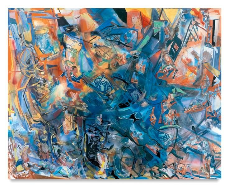 Strata, 2015, Acrylic, oil, and collage on canvas, 80 x 100 inches, 203.2 x 254 cm, MMG#28209