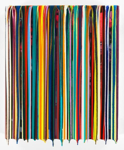 MOREAMORE, 2016, Epoxy resin and pigments on wood, 14 x 16 inches, 35.6 x 40.6 cm, AMY#28450