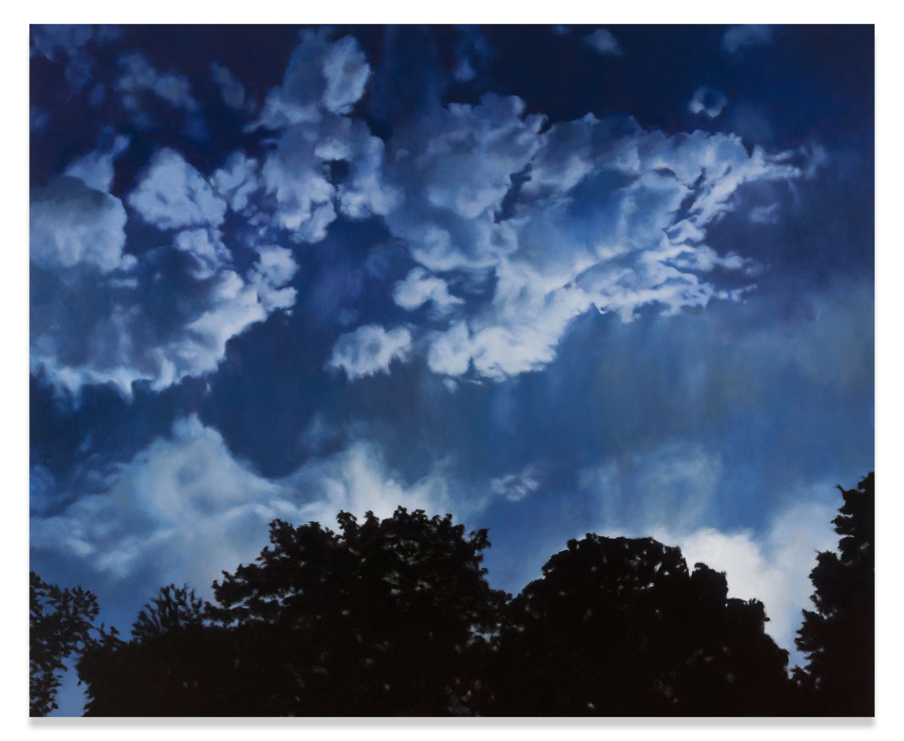 Blue Day, Blue Night, 2016, Oil on linen, 73 x 88 1/2 inches,185.4 x 224.8 cm,MMG#30402