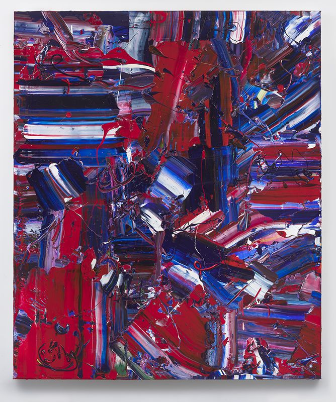 Red Baron, 2018, Acrylic on linen, 72 x 60 inches, 182.9 x 152.4 cm, MMG#29700
