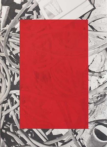 Untitled, 2014, Oil and UV cured ink on paper, 29 3/4 x 21 3/4 inches, 75.6 x 55.2 cm, A/Y#21431