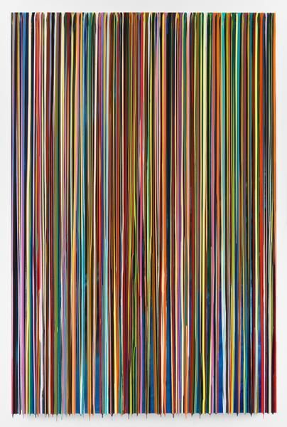 DIETAUBEAUFDEMDACH, 2016, Epoxy resin and pigments on wood, 90 x 60 inches, 228.6 x 152.4 cm, AMY#28454
