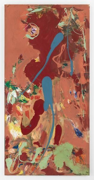Hans Hofmann, Aquatic Garden, 1960, Oil on Upson board, 95 3/4 x 47 3/4 inches, 243.2 x 121.3 cm, AMY#1140