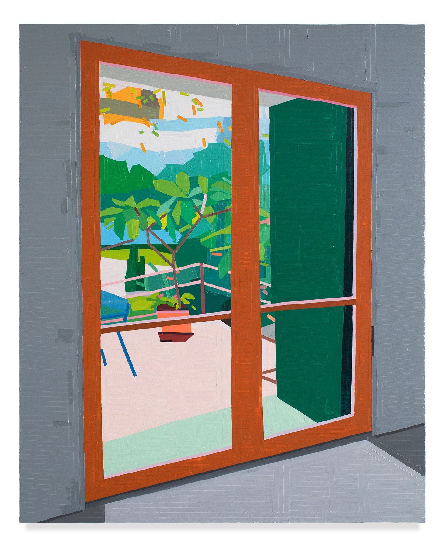 Plant Outside, 2019, Oil on canvas, 61 7/8 x 50 inches, 157 x 127 cm,MMG#31726