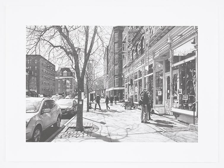 Hudson Street, 2016, Pencil on Bristol Board, 15 x 22 inches, 38.1 x 55.9 cm, AMY#28666