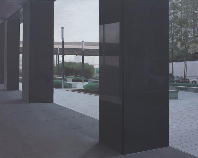 Pillars, 2012, Oil on linen, 40 x 50 inches, 101.6 x 127 cm, A/Y#21670