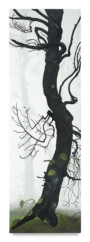 Inka Essenhigh, Arbor Ignudi #1, 2017, Enamel on panel