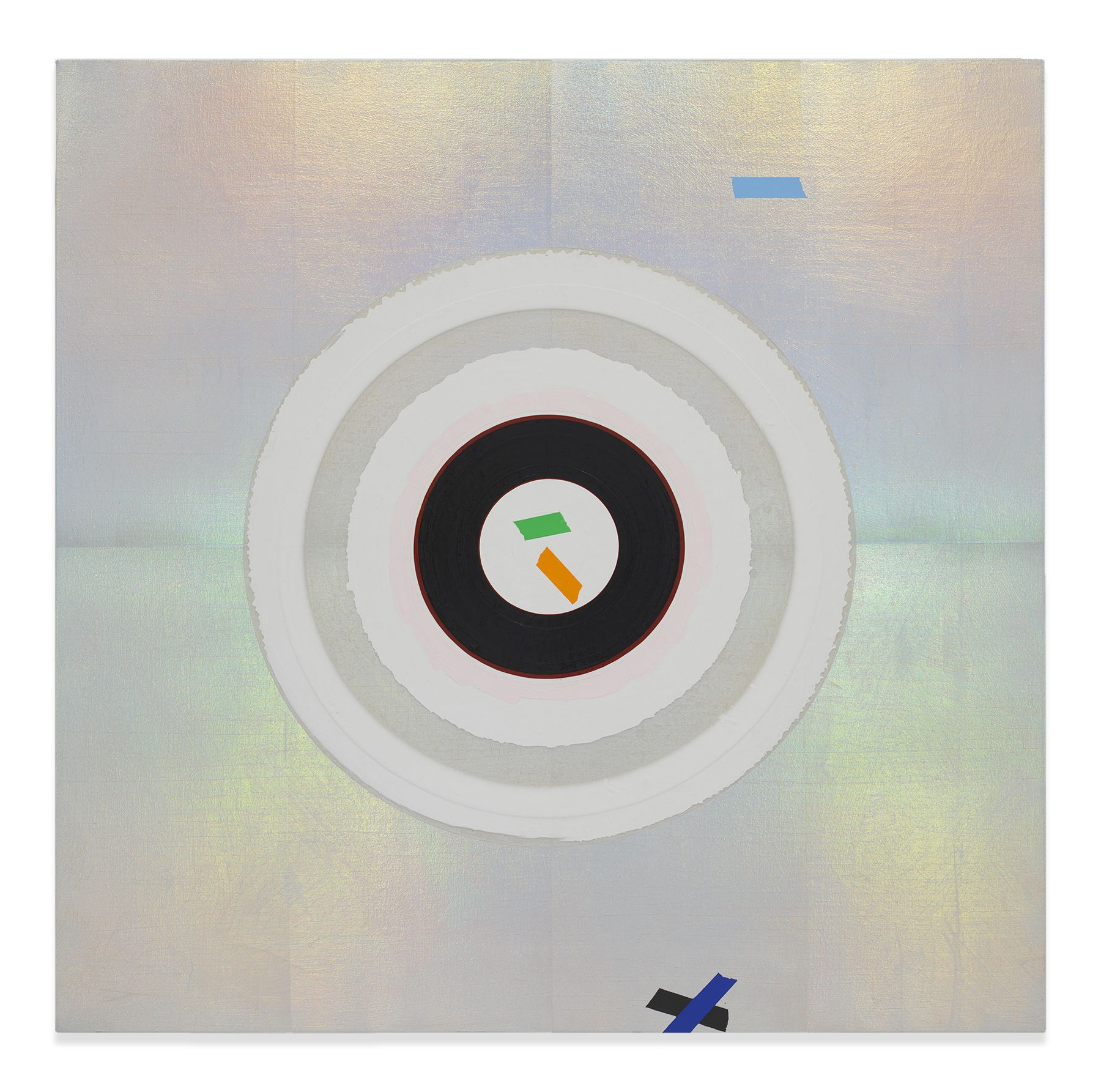 Kenneth Noland, Mysteries: Platinum, 1999, Acrylic on canvas, 46-1/2 by 46-1/2 inches, 118.1 by 118.1 cm