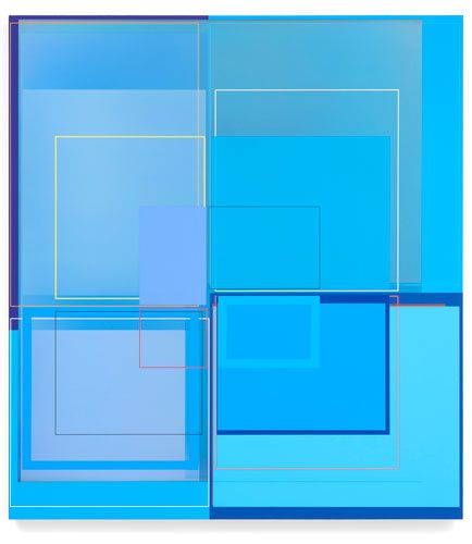 Patrick Wilson, Incrediblue, 2014, Acrylic on canvas, 41 x 37 inches, 104.1 x 94 cm, A/Y#22321