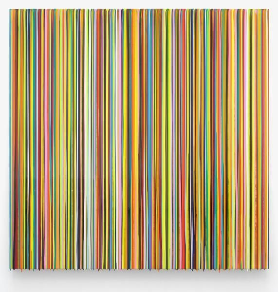Markus Linnenbrink, DIEEHRLICHEHAUT(YELLOW), 2014, Epoxy resin and pigments on wood, 60 x 60 inches, 152.4 x 152.4 cm, A/Y#22165