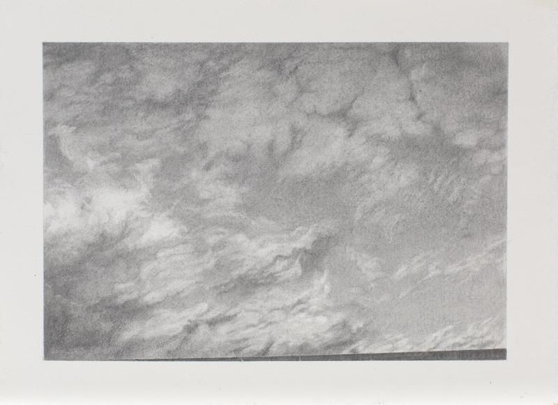 Clouds #5, 2013, Graphite on paper, 5 1/4 x 7 1/4 inches, 13.3 x 18.4 cm, A/Y#21664