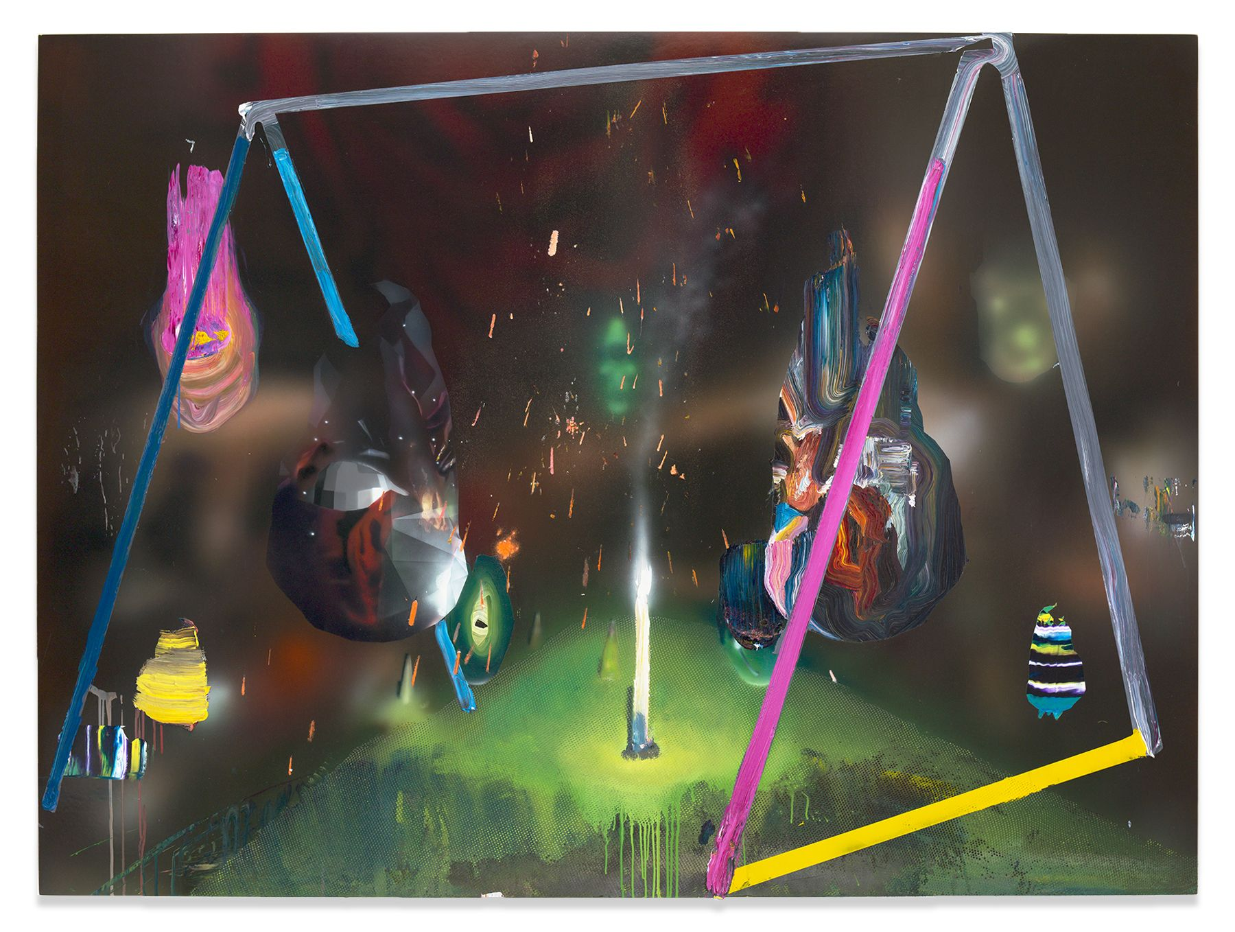 Before Before, 2015, Acrylic, epoxy and glitter on canvas over panel, 57 x 77 inches, 144.8 x 195.6 cm, MMG#29221
