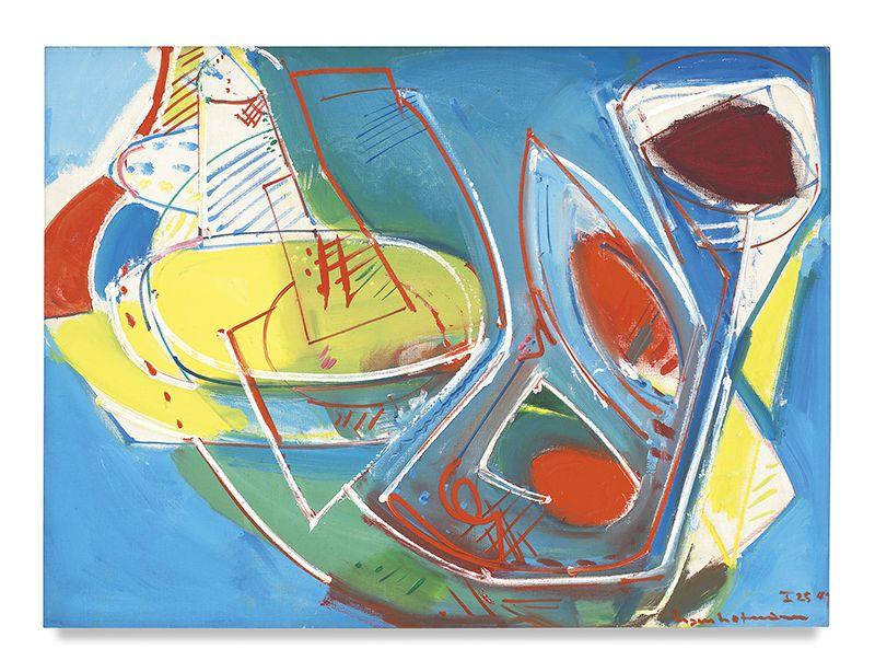 Hans Hofmann,Obliquité, 1947, Oil on canvas, 30.5 x 41 inches, 77.5 x 104.1 cm, MMG#1806,