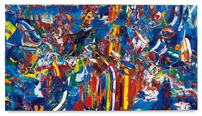 Sweet Swing, 2017, Acrylic on linen, 44 x 80 inches, 111.8 x 203.2 cm, MMG#29068