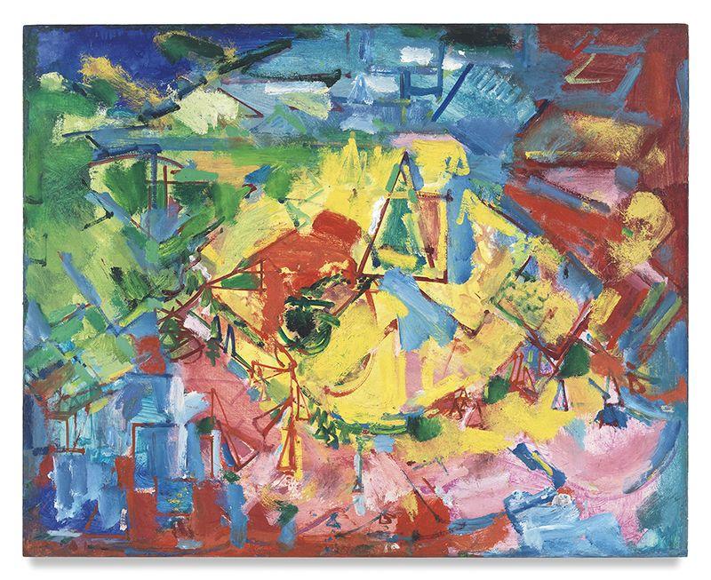 Hans Hofmann,[Landscape], 1941 (c.), Oil on panel, 24 x 30 inches, 61 x 76.2 cm, MMG#9384,