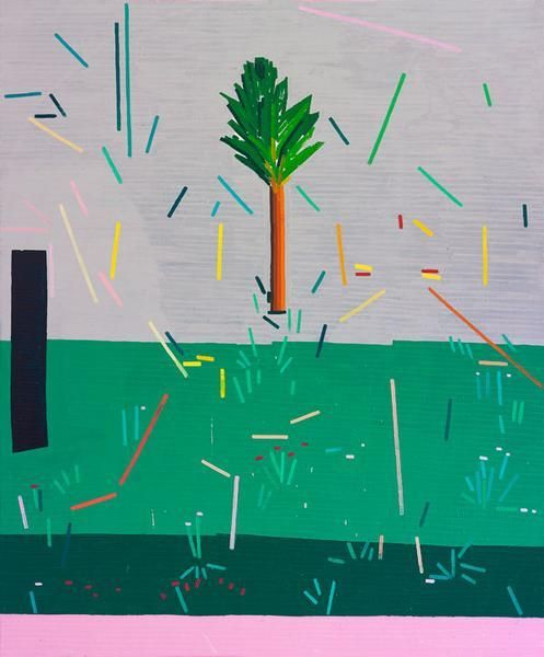 Ancienne Rive (A Tree and a Cave), 2015, Oil on linen, 72 x 60 inches, 182.9 x 152.4 cm, MMG#22575