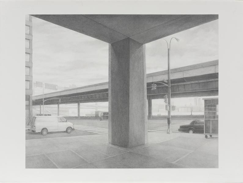 Intersection, 2009, Graphite on paper, 22 3/4 x 30 1/4 inches, 57.8 x 76.8 cm, A/Y#21667