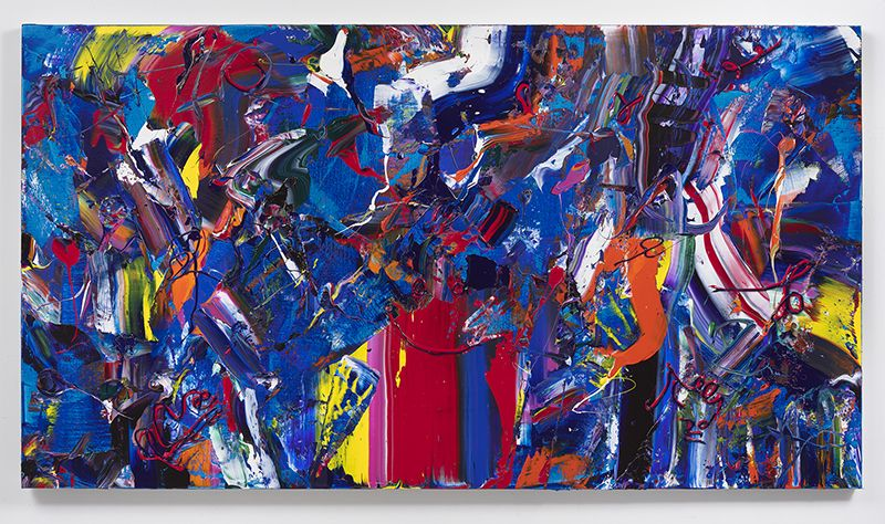 Miracle Mist, 2017, Acrylic on linen, 44 x 80 inches, 111.8 x 203.2 cm, MMG#29695