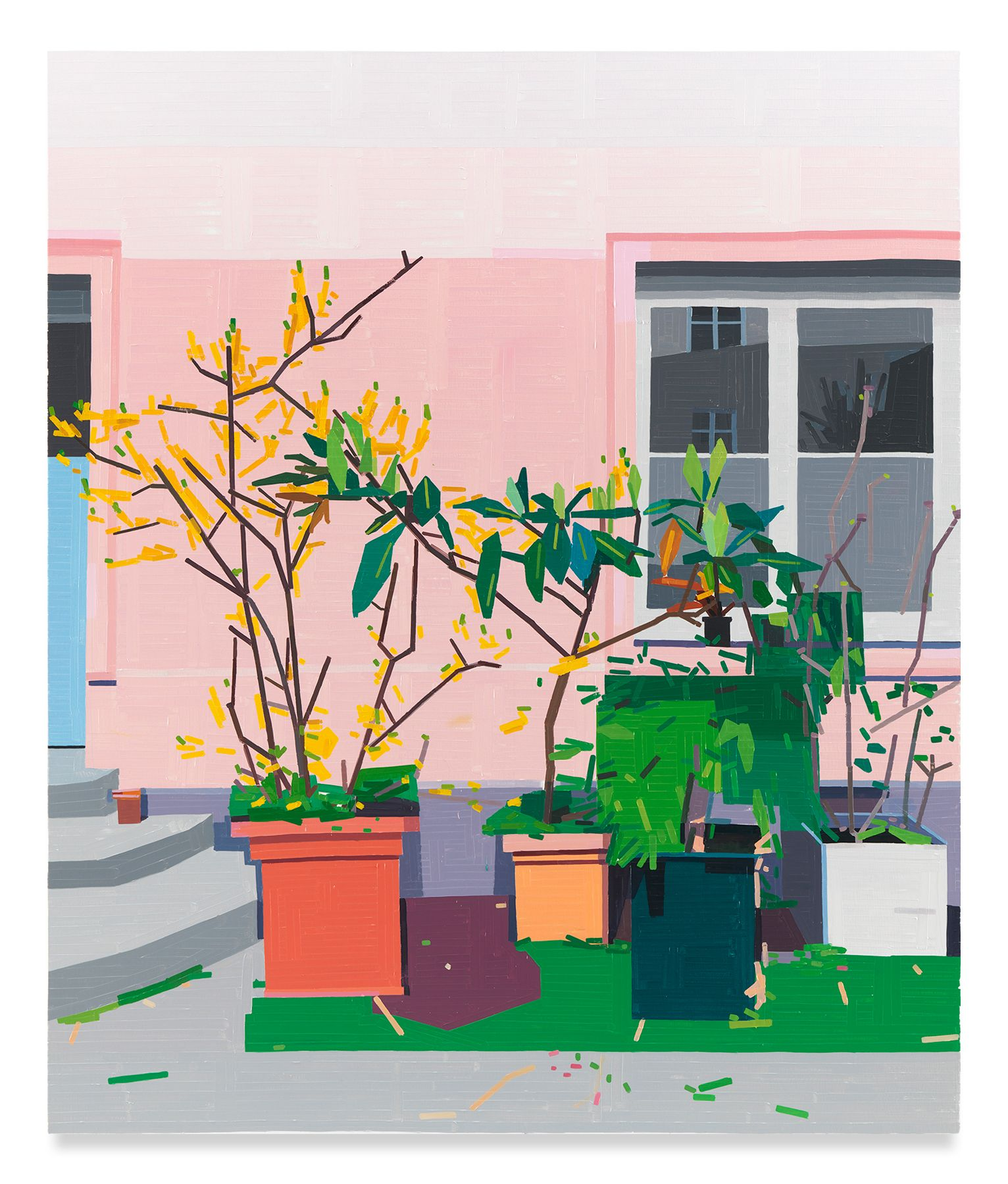 Courtyard, 2020,Oil on canvas,74 3/4 x 63 inches,190 x 160 cm,MMG#32037