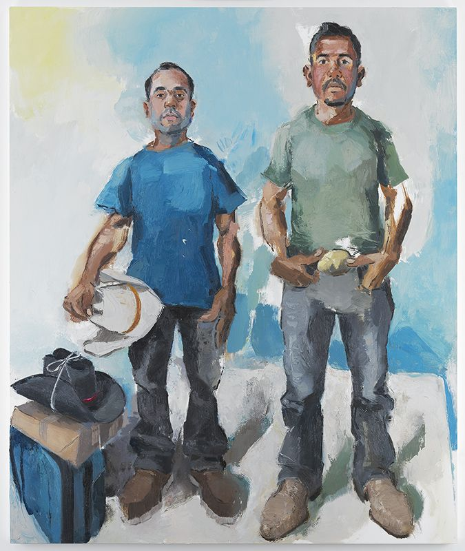 John Sonsini, Miguel & Christian, 2017, Oil on canvas, 72 x 60 inches, 182.9 x 152.4 cm, MMG#29521