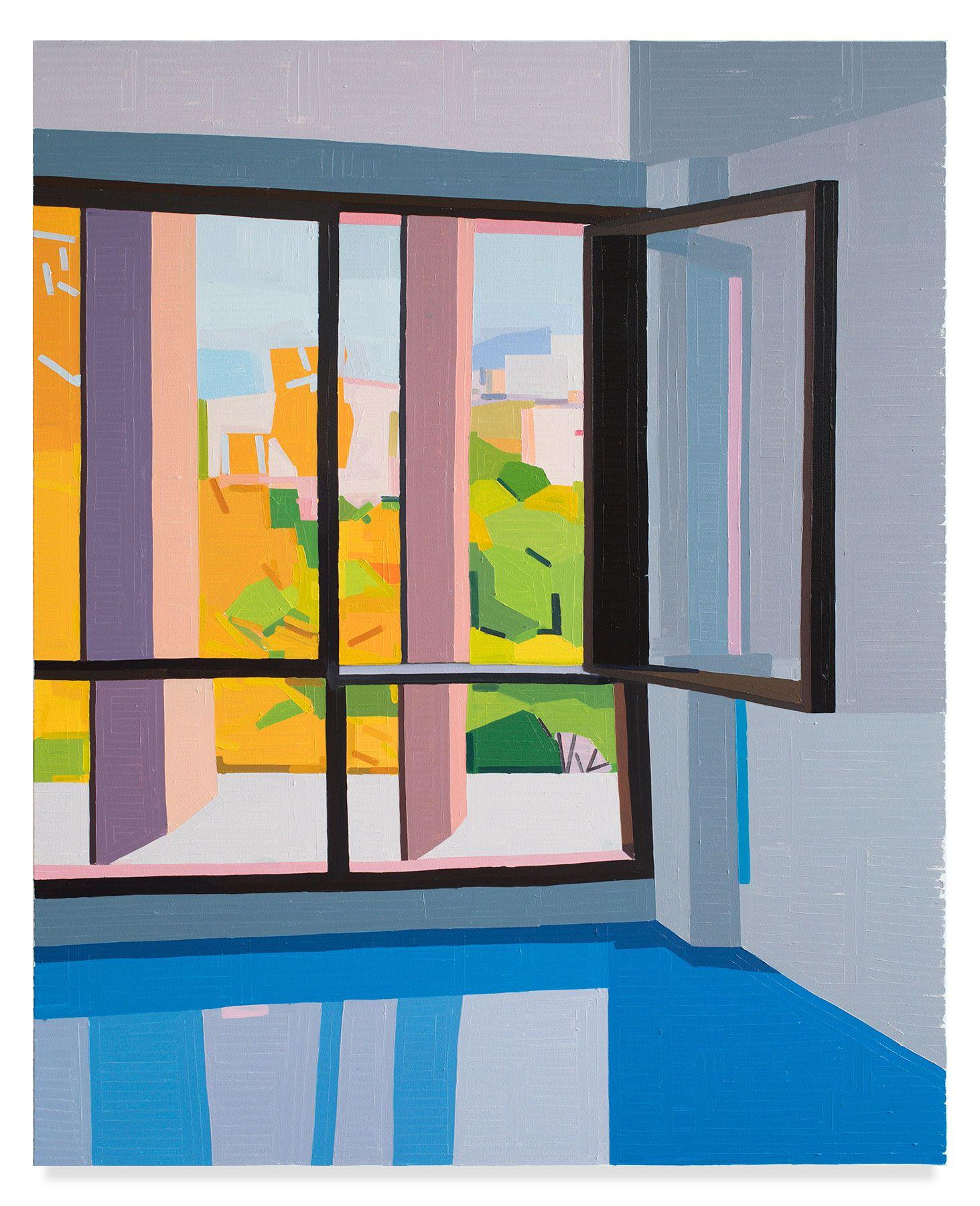 Cité Radieuse Le Corbusier, 2019, Oil on canvas, 61 7/8 x 50 inches, 157 x 127 cm, MMG#31725