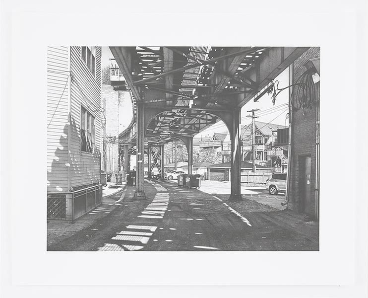 CTA Redline on the North Side, 2016, Pencil on Bristol Board, 15 x 20 inches, 38.1 x 50.8 cm, AMY#28669