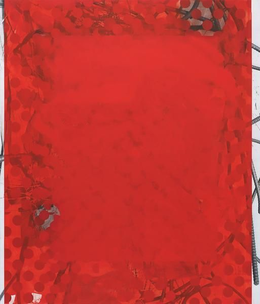 Kevin Appel, Red Wedding, 2014, Acrylic, oil, and UV cured ink on canvas over panel, 84 x 72 inches, 213.4 x 182.9 cm, A/Y#21418