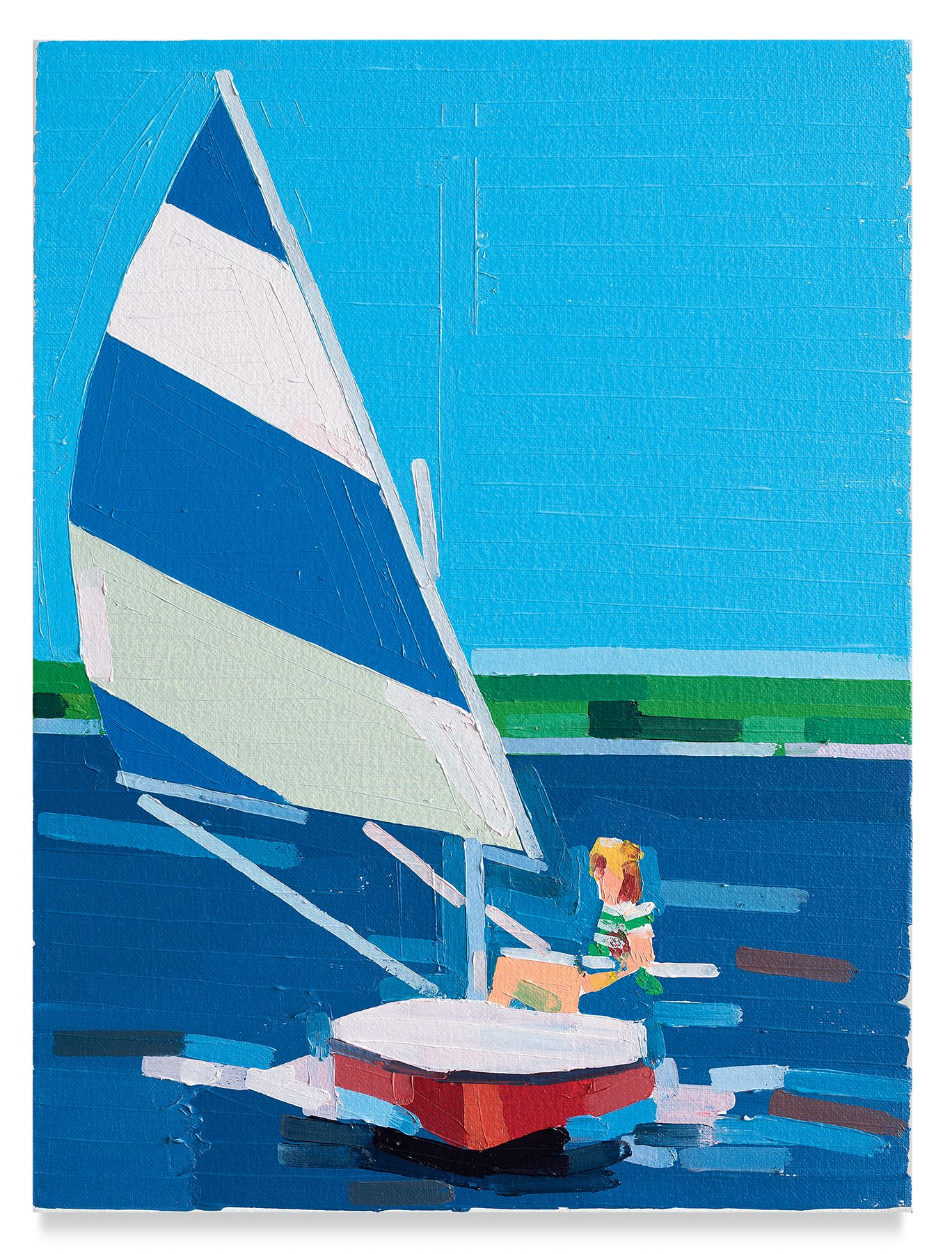 Guy Yanai, Teenager on a Boat, 2019