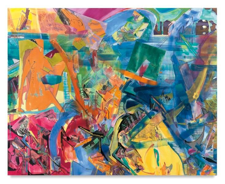 West Drift, 2016, Acrylic, oil, and collage on canvas, 80 x 100 inches, 203.2 x 254 cm, MMG#28314
