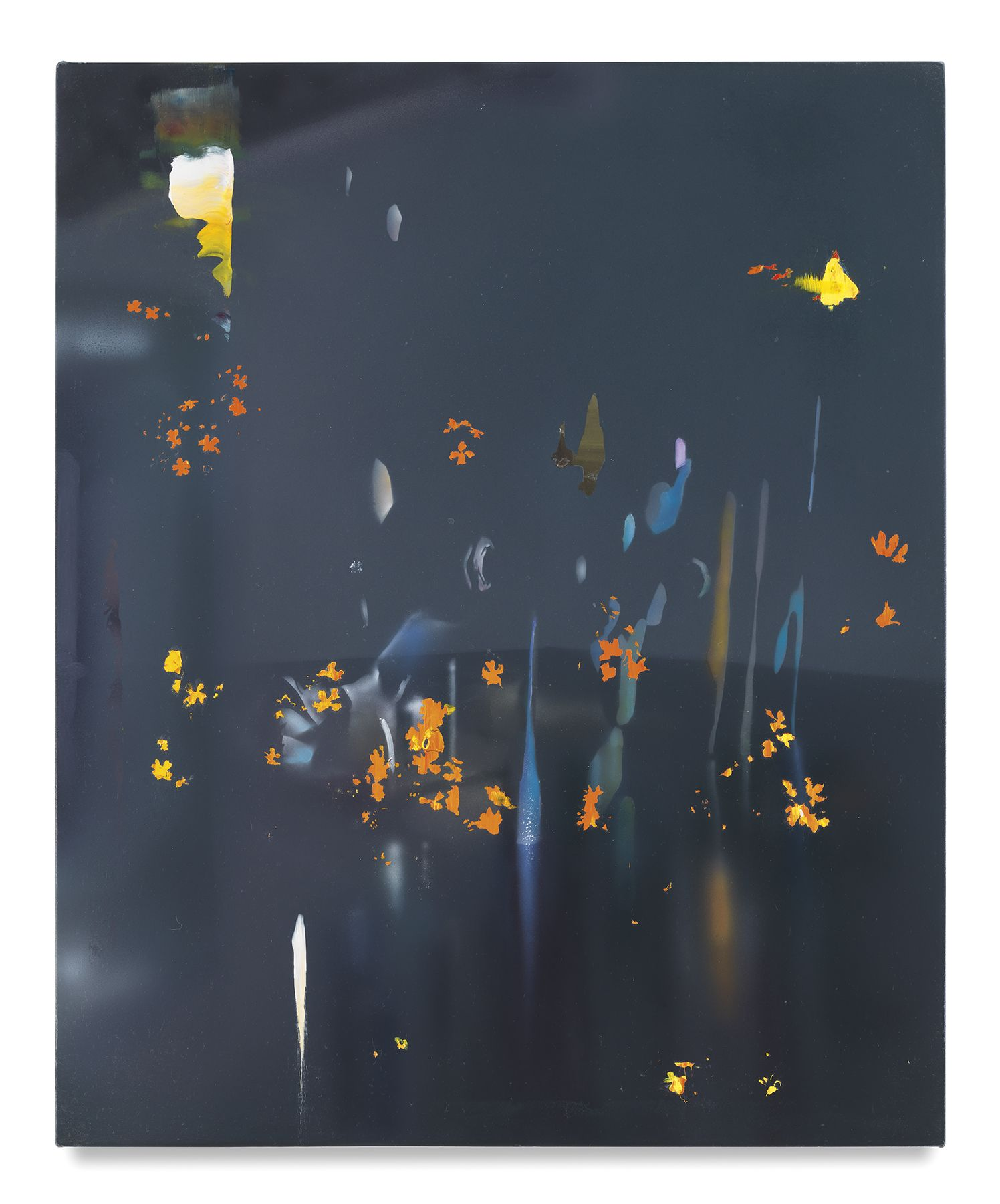 Embers, 2018, Acrylic on canvas over panel, 22 1/4 x 18 inches, 56.5 x 45.7 cm, MMG#30128