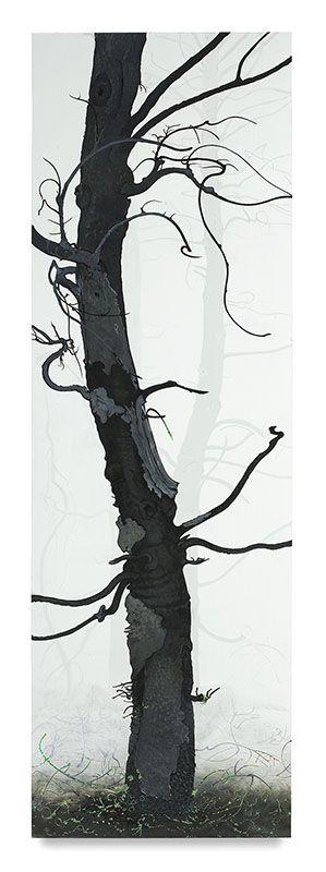 Inka Essenhigh, Arbor Ignudi #2, 2017, Enamel on panel