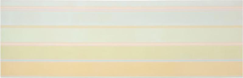 Kenneth Noland, VIa Fill, 1968, Acrylic on canvas, 37 x 120 inches, 99.1 x 309.9 cm, A/Y#21642