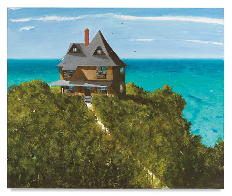 An American Poet lives here, 2017, Oil on canvas, 60 x 72 inches, 152.4 x 182.9 cm, MMG#29879
