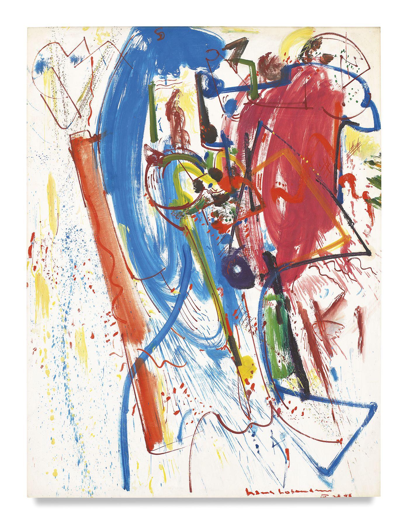 Hans Hofmann, La Révision, 1946, Oil on panel, 41 1/2 x 32 1/2 inches, 105.4 x 82.6 cm, MMG#1477,