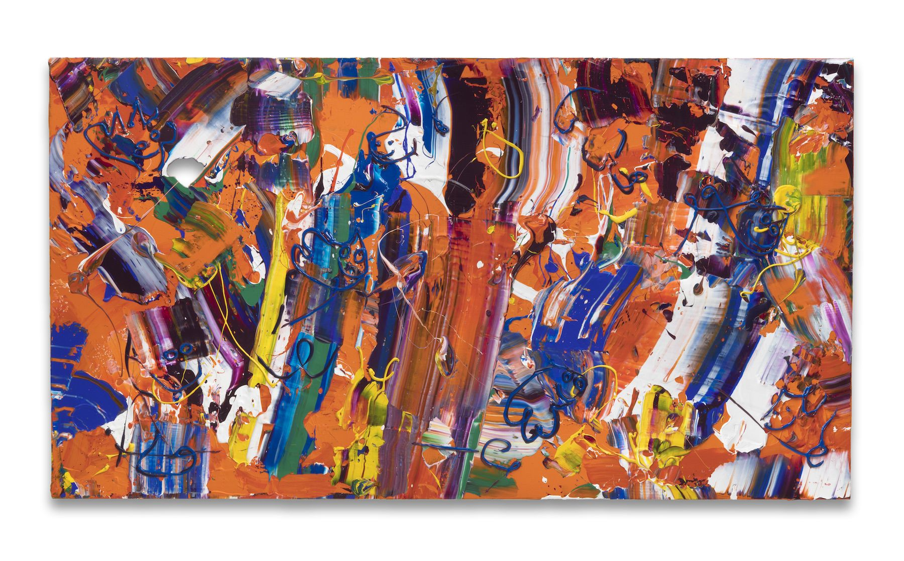 First Place, 2018,Acrylic on linen,44 x 80 inches,111.8 x 20.3 cm, MMG#30375