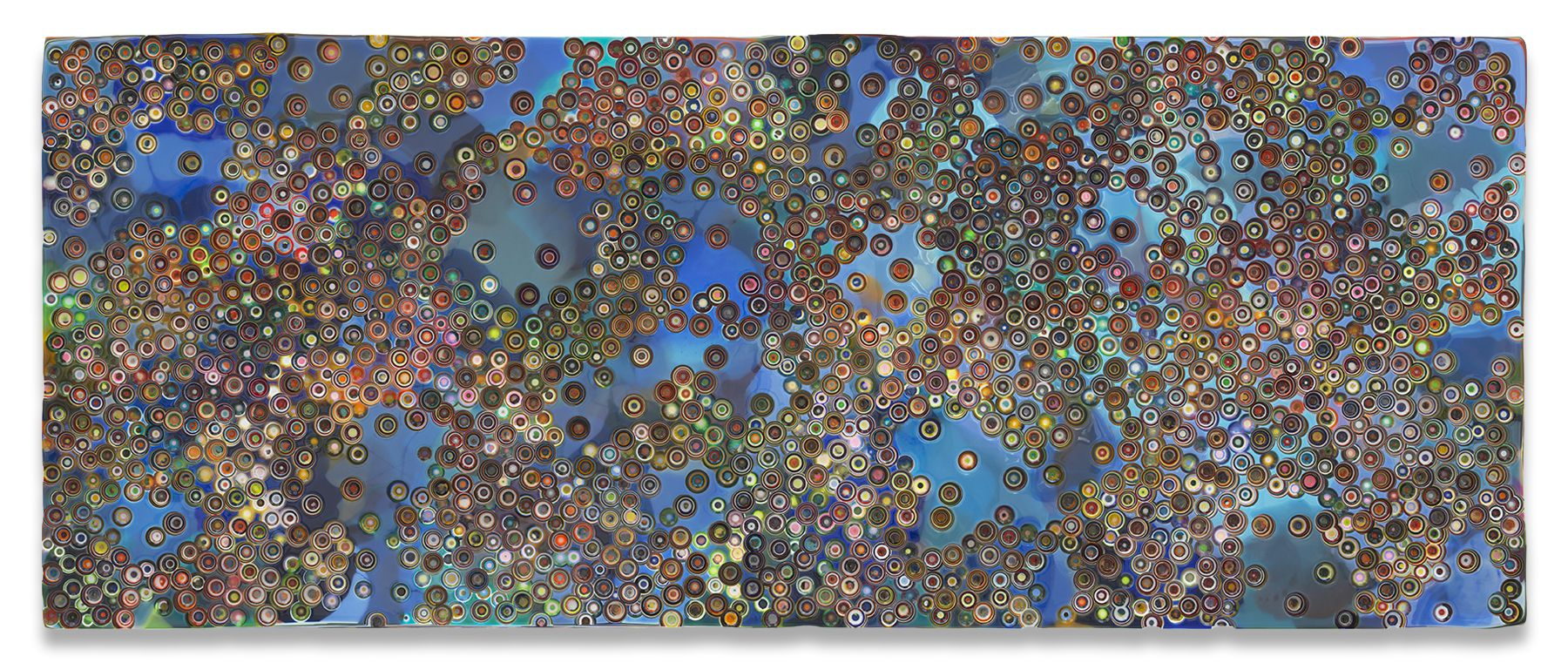 Markus Linnenbrink, TISFORTRUTHANDIISFORINTERNAL, 2019, Epoxy resin and pigments on wood, 48 x 120 inches, 121.9 x 304.8 cm, MMG#30895