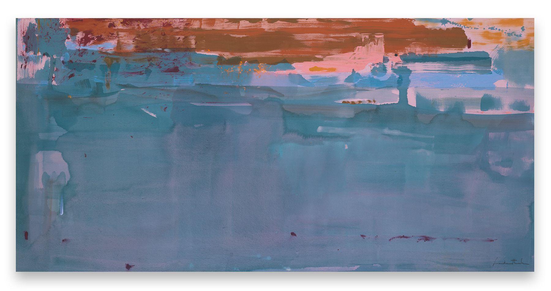 Basin, 1979, Acrylic on canvas, 52 x 106 inches, 132.1 x 269.2 cm, MMG#28016