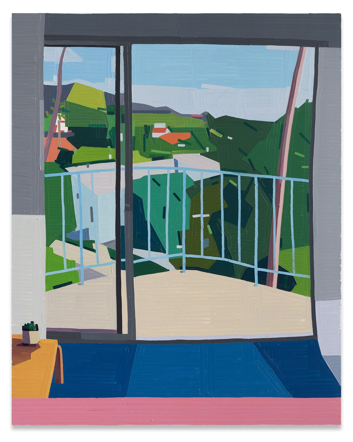 Guy Yanai, The Standard West Hollywood, 2019, Oil on canvas, 59 x 47 1/4 inches, 150 x 120 cm, MMG#30928