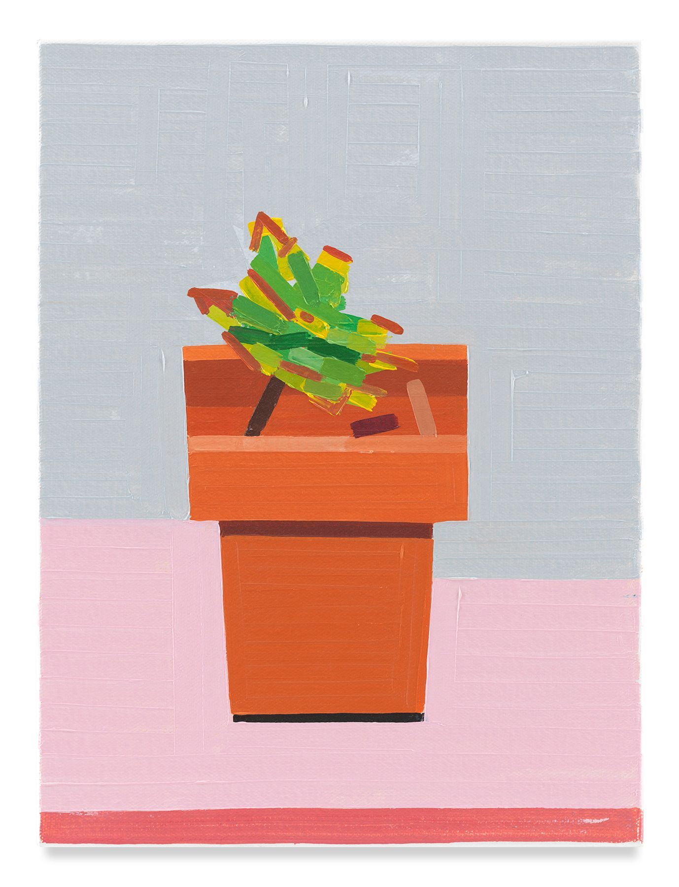 European Plant, 2019,Oil on canvas,16 x 11 7/8 inches,40.6 x 30.2 cm,MMG#32140