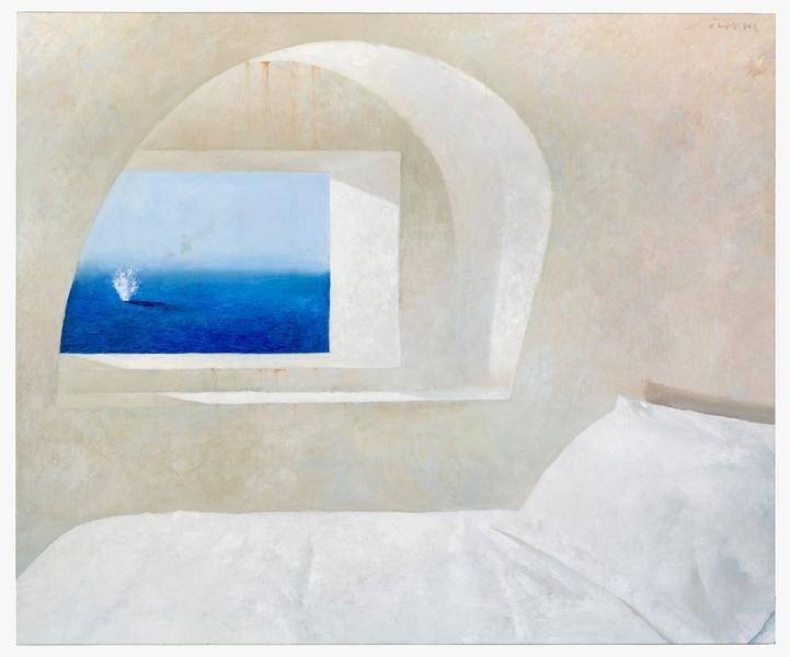 Julio Larraz, Icarus, 2003, Oil on canvas, 60 x 72 inches, 152.4 x 182.9 cm, A/Y#22044