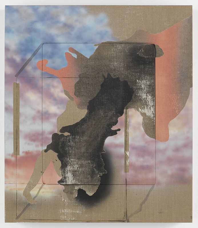 Annie Lapin, We Beam Passed, 2018, Flashe paint, charcoal, acrylic and urethane on linen, 30 x 26 inches, 76.2 x 66 cm, MMG#29709