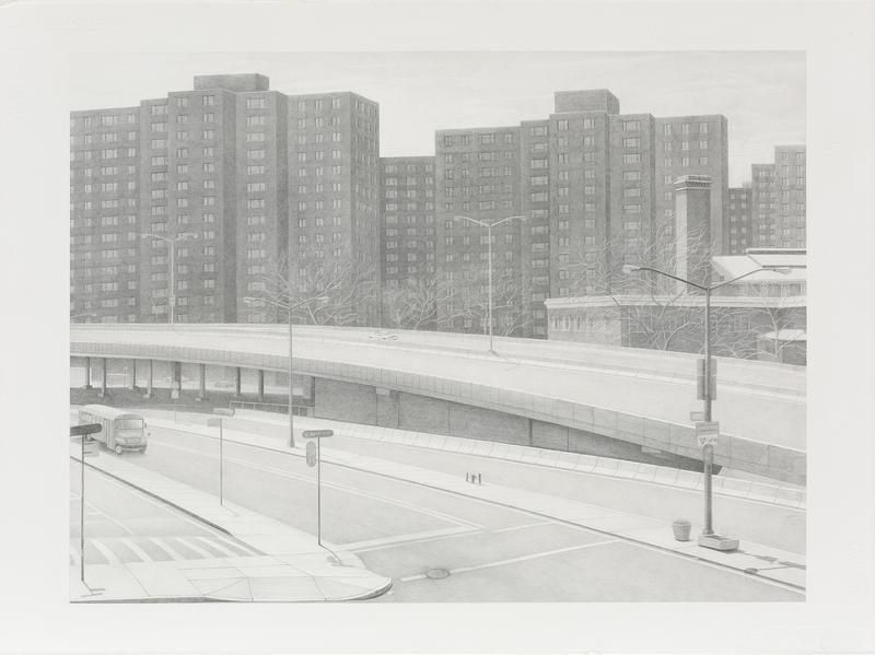 Backdrop, 2010, Graphite on paper, 22 1/2 x 30 inches, 57.2 x 76.2 cm, A/Y#21572