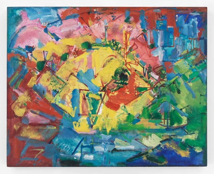 Hans Hofmann, Landscape, ca. 1941, Oil on panel, 24 x 30 inches, 61 x 76.2 cm, AMY#9384