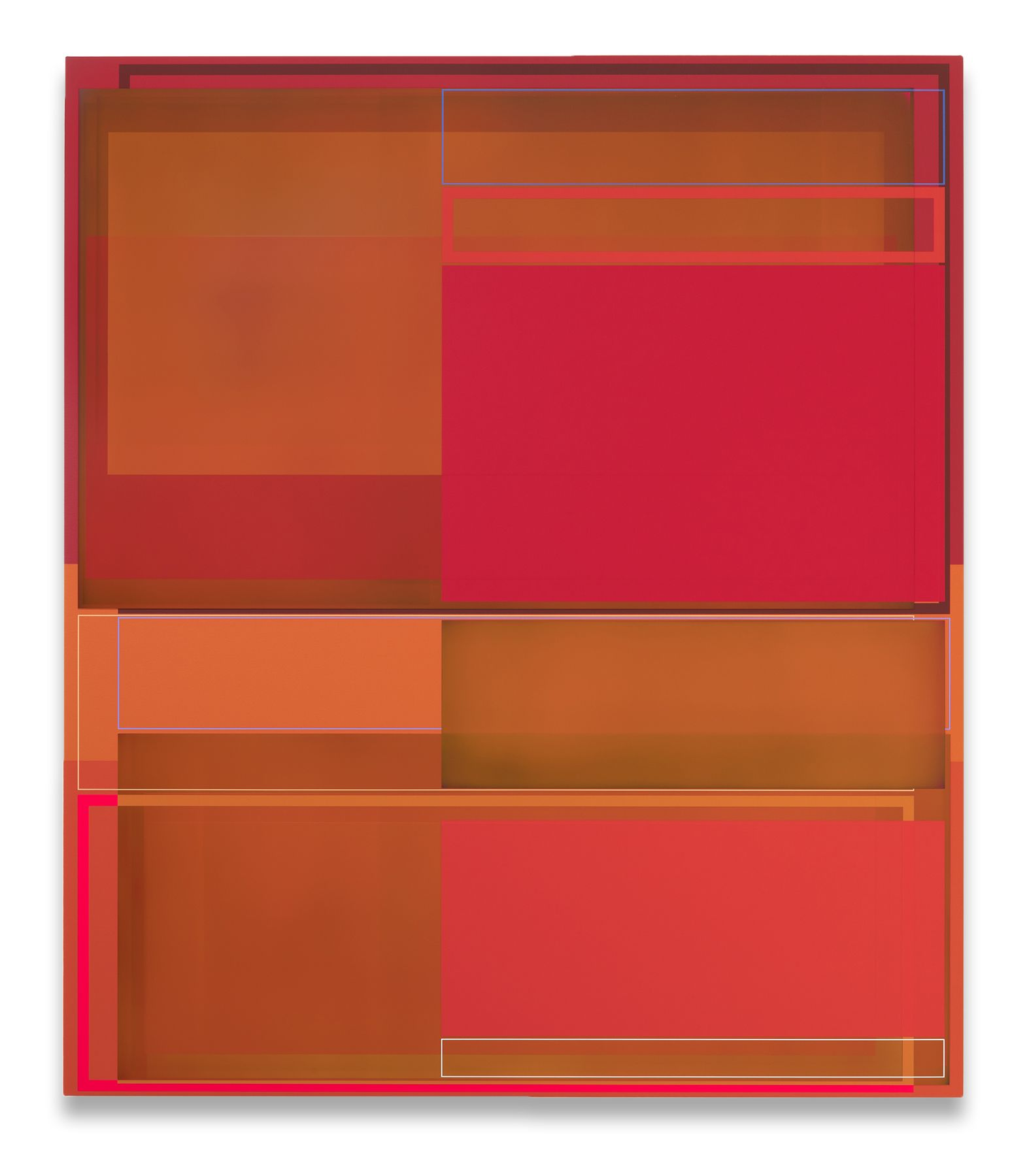 Patrick Wilson, Space Heater, 2018, Acrylic on canvas, 66 x 57 inches, 167.6 x 144.8 cm, MMG#30242