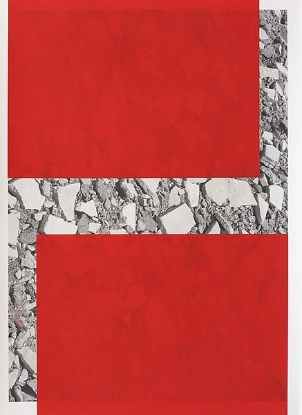 Untitled, 2014, Oil and UV cured ink on paper, 29 3/4  x 21 3/4 inches, 75.6 x 55.2 cm, A/Y#21423